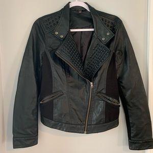 Rock & Republic black vegan leather moto jacket